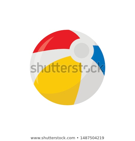 Gymnastics with ball icon on red background Stock photo © bluering
