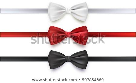 Piros fekete íj arany szatén buli Stock fotó © pakete