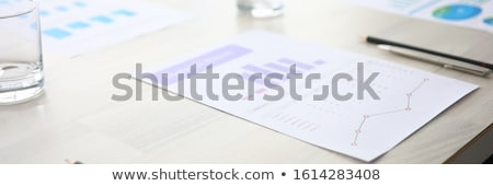 Importante mesa de madera palabra oficina vidrio mesa Foto stock © fuzzbones0
