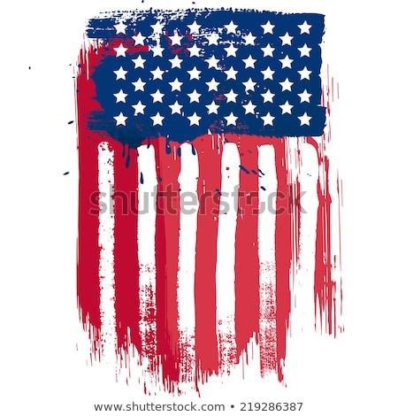 Zászló Egyesült Államok Amerika klasszikus stílus vízszintes Stock fotó © tab62