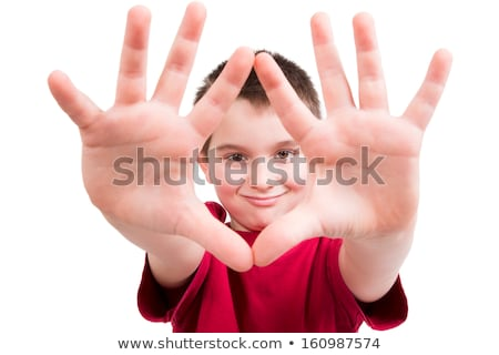 A boy showing his thumb Stock photo © bluering