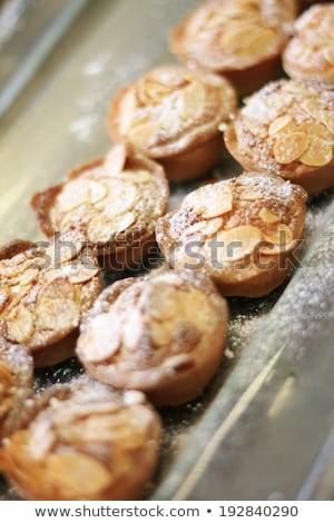 haché · noix · brun · table · en · bois · cuisine · marché - photo stock © digifoodstock