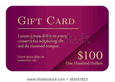 高級 単純な ギフトカード バイオレット 色 ストックフォト © liliwhite