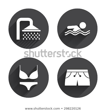 Swimwear icons Stock photo © bluering