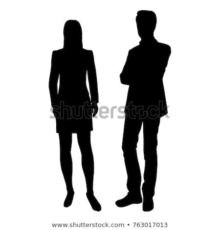 shopping · persone · sagome · attività · silhouette · bene - foto d'archivio © comicvector703
