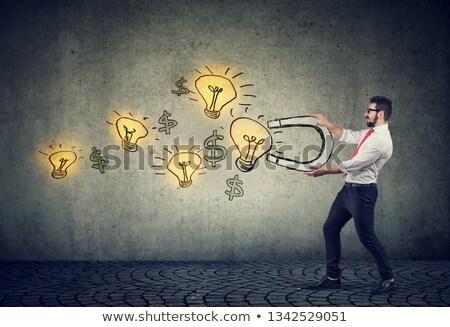 legge · attrazione · lavagna · parole · cuore · energia - foto d'archivio © lightsource