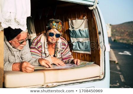 Hippie Coppia illustrazione donna ragazza sorriso Foto d'archivio © adrenalina