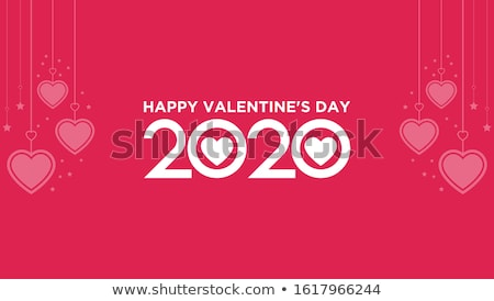 Valentine dia cartão de presente eps 10 seda Foto stock © beholdereye