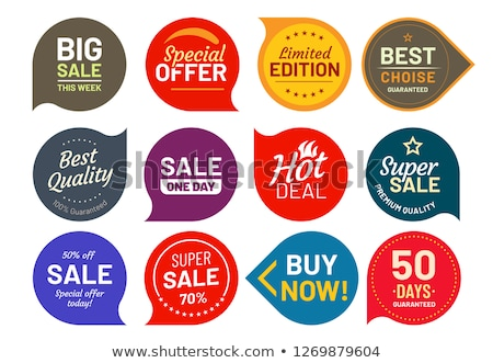 Foto stock: Round Labels Stickers For Big Sale