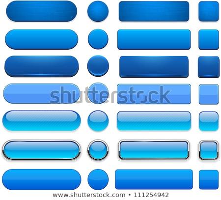 Empty blue button Stock photo © orson