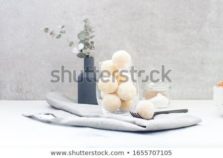 Stockfoto: Chocolate Coconut Truffles