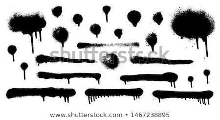 graffiti spray paint detail in black on white Stock photo © Melvin07