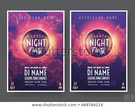 indie club dj party night flyer banner template Stock photo © SArts