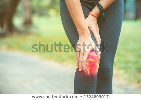 Stock photo: Skeleton with knee joint pain