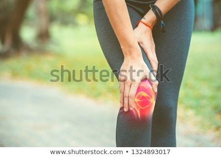 skeleton with knee joint pain stock photo © tefi