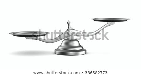 Весы белый изолированный 3d иллюстрации баланса мера Сток-фото © ISerg