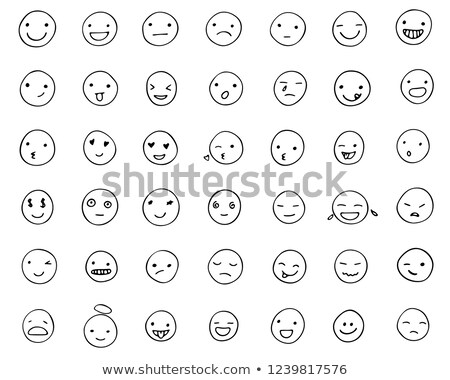 érzelem ikon szett rajzolt mérges sír tinta Stock fotó © SwillSkill