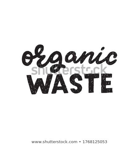 Prullenbak typografie onzin brieven vuilnis schil Stockfoto © MaryValery