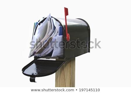 Kacat posta postaláda tele új házak Stock fotó © alexeys
