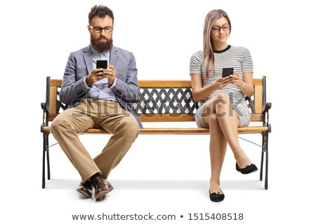 Sitting on the bench. Stock photo © Fisher