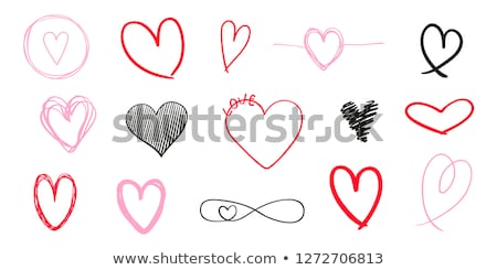 pencil heart and infinity sign, vector set Stock photo © beaubelle