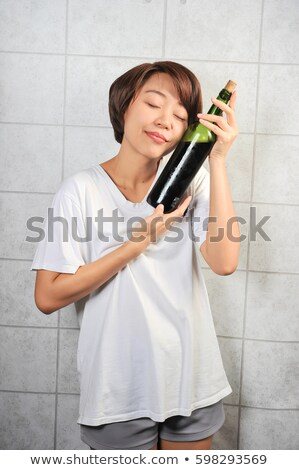 Wine bottle. Classic, attractive bottle of wine. Stock photo © kayros