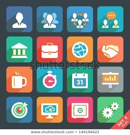 Chef d'équipe icône design isolé illustration app Photo stock © WaD