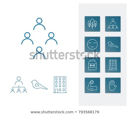 Glimlach emotie betrekkingen tablet iconen vector Stockfoto © ahasoft