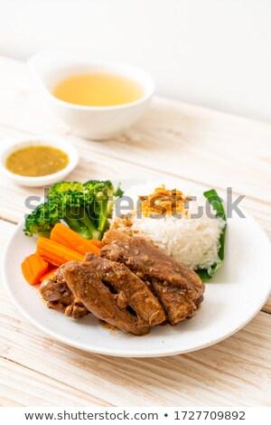 Slice of smoked marinated beef stock photo © Digifoodstock