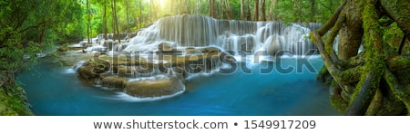 regenboog · rock · waterval · West · Virginia · vallen · vertragen - stockfoto © psychoshadow