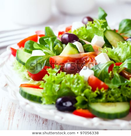 Different Food. Plate with Salad Close-up.  Stock photo © dariazu