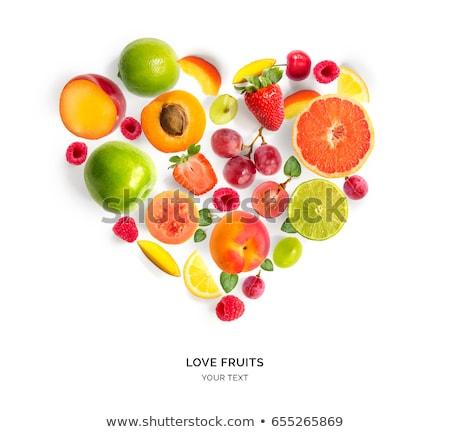vruchten · hartvorm · dieet · producten · voedsel · hart - stockfoto © jagoda