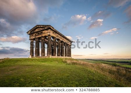 Templo ver cidade árvores Foto stock © russwitherington