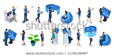isometric 3d vector set of glasses stock photo © curiosity