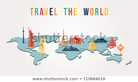 travel japan country paper cut world monuments stock photo © cienpies