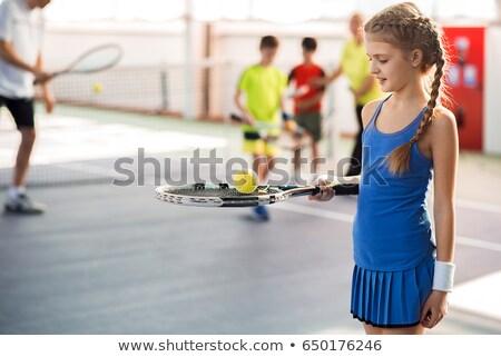 Zdjęcia stock: Szczęśliwy · trener · dziewczyna · szkoły · boisko