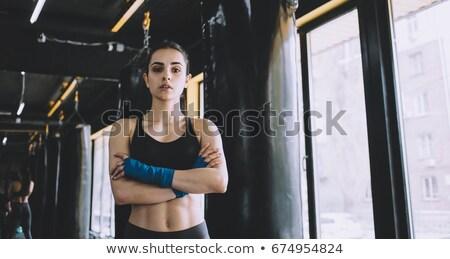 женщину · красивой · за · багаж - Сток-фото © wavebreak_media