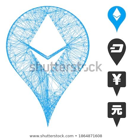 Marqueur icône demande web design numérique diamant Photo stock © ahasoft
