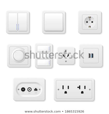 Set diverso elettriche pulsanti 3D elettrici Foto d'archivio © kup1984