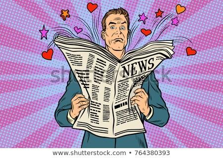 Lector vacaciones noticias arte pop retro Foto stock © studiostoks