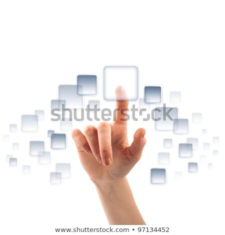 Digital News - Clicking Blue Keyboard Button. Stock photo © tashatuvango