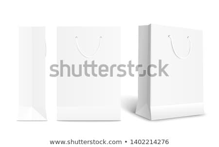 papel · em · branco · saco · modelo · vetor · realista · compras - foto stock © frimufilms