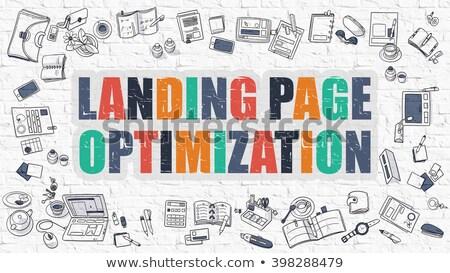 Landing Page Optimization in Multicolor. Doodle Design. Stock photo © tashatuvango