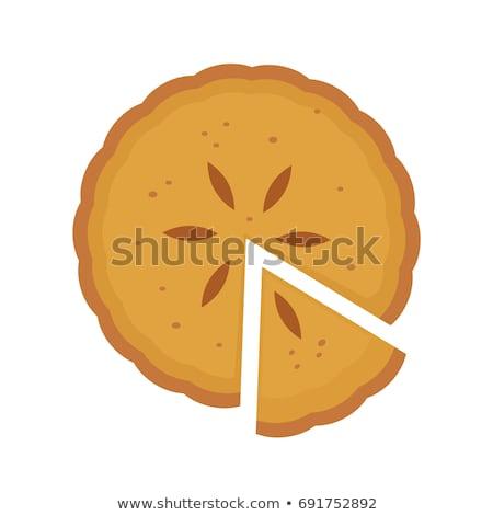 Vektor szett házi készítésű sütőtök piték háttér Stock fotó © freesoulproduction