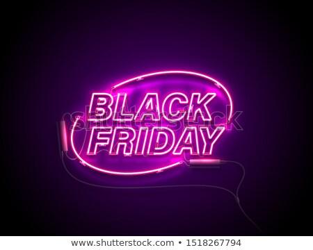 Black friday texto rosa lâmpada luz Foto stock © romvo