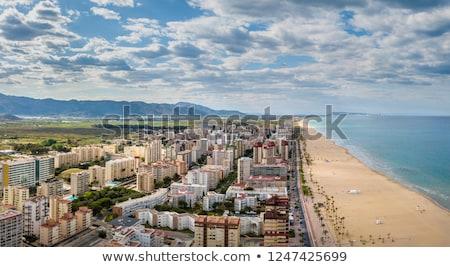 Promenád Spanyolország kilátás kikötő Valencia fa Stock fotó © smartin69