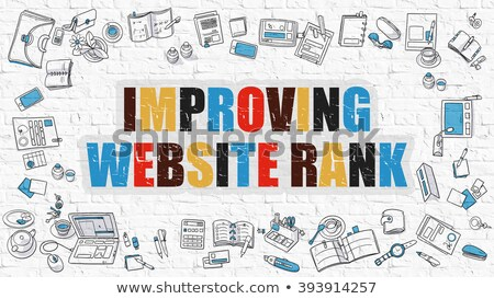 improving website rank in multicolor doodle design stock photo © tashatuvango