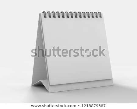икона · календаря · спиральных · чистый · лист · бумаги · 3d · иллюстрации - Сток-фото © user_11870380