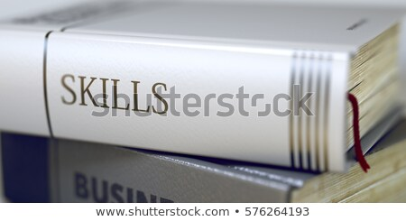 Książki tytuł kręgosłup nowego umiejętności Zdjęcia stock © tashatuvango