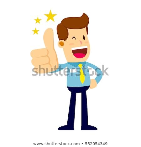 Feliz desenho animado homem camisas amarrar Foto stock © Krisdog